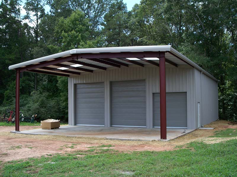 Residential steel buildings pre engineered residential for 12x12 roll up garage door