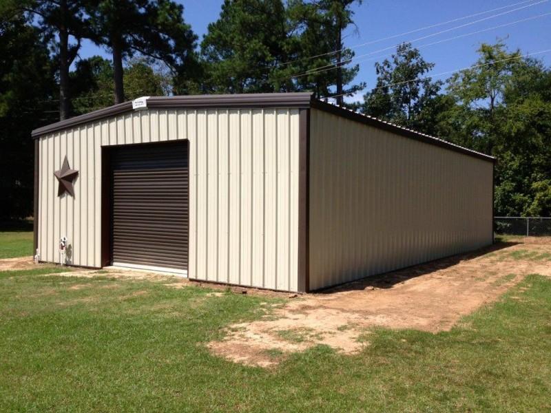 Residential steel buildings pre engineered residential for 12x10 roll up garage door