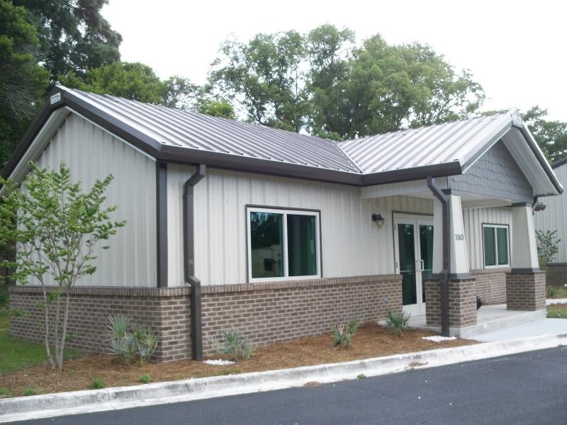 Car dealership design plans steel office building for Metal building office plans