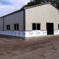 Commercial Steel Building Under Construction