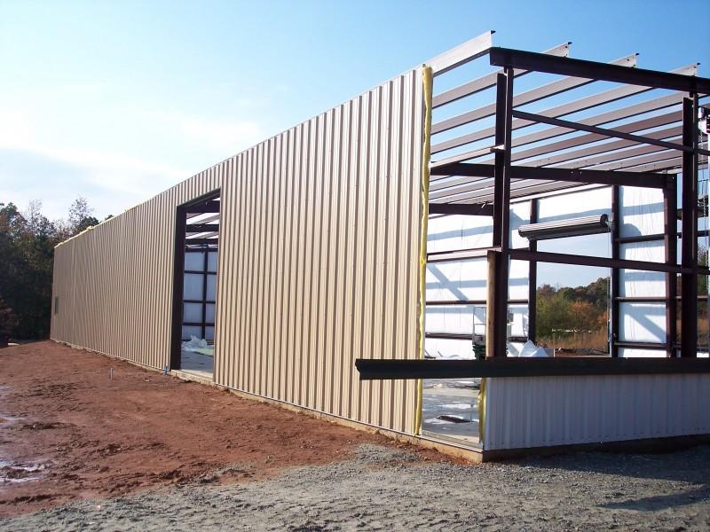 Commercial steel building prefab structures ga for 12x14 roll up door